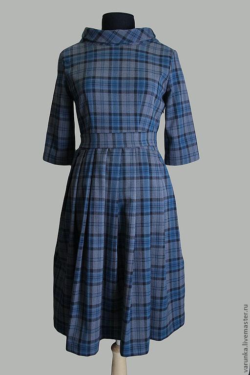 """Платья ручной работы. Ярмарка Мастеров - ручная работа. Купить платье """"Серая клетка"""". Handmade. В клеточку, платье в клеточку"""