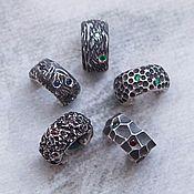 Украшения handmade. Livemaster - original item Cuff silver with small stones. Handmade.
