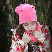 """Работы для детей, ручной работы. Ярмарка Мастеров - ручная работа Теплый комплект - шапка и снуд """"Мисс Сказка"""". Handmade."""