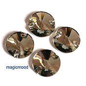 Материалы для творчества handmade. Livemaster - original item 1 PCs 12 mm 215 Rivoli Sew-on Flatback Rivoli Black Diamond Swarovski. Handmade.
