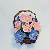Цветы и флористика handmade. Livemaster - original item A basket of flowers. Handmade.