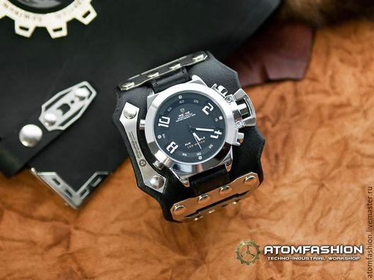 """Часы ручной работы. Ярмарка Мастеров - ручная работа. Купить Мужские киберпанк часы """"Нейромант 3.0"""". Handmade. Часы"""