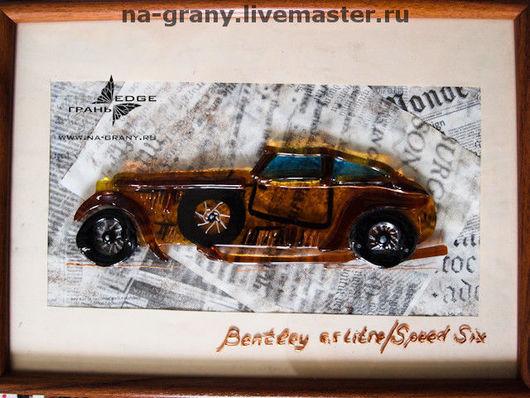 """Абстракция ручной работы. Ярмарка Мастеров - ручная работа. Купить коллаж """"Bentley Speed Six"""", картина на стену. Handmade. Картина"""