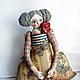 Коллекционные куклы ручной работы. Ярмарка Мастеров - ручная работа. Купить На море..нужно ехать нарядной!!!. Handmade. Разноцветный