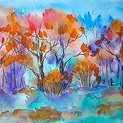 Картины и панно ручной работы. Ярмарка Мастеров - ручная работа Осень. Сказочный Лес. Handmade.