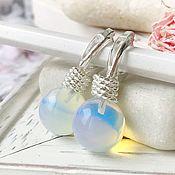 Украшения handmade. Livemaster - original item Earrings moonstone English castle silver earrings bright. Handmade.