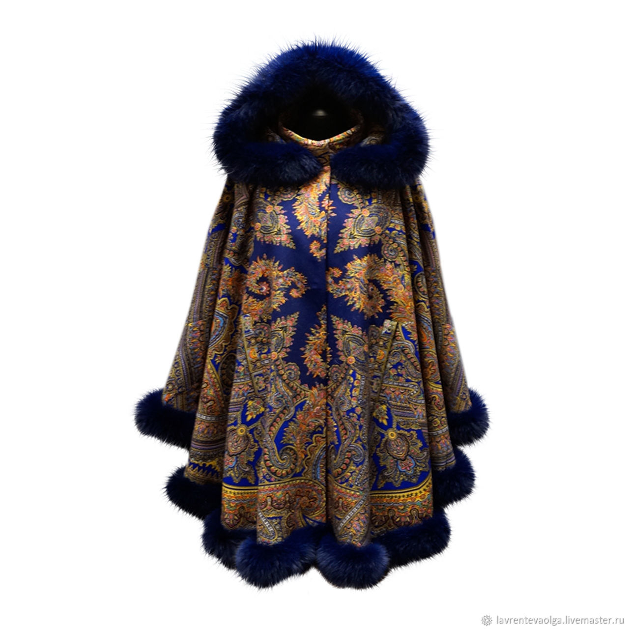 From ponchos shawls with fur, Ponchos, Moscow,  Фото №1
