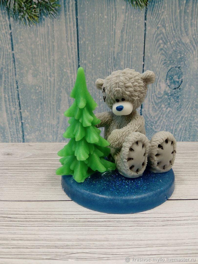 Soap Bear with Christmas tree, Soap, Moscow,  Фото №1