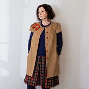 Одежда handmade. Livemaster - original item Coat sleeveless Sweet mustard, Casimir.. Handmade.