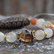 Украшения handmade. Livemaster - original item Personal Talisman bracelet, stones and dzi bead AVENTURINE DRAGON. Handmade.