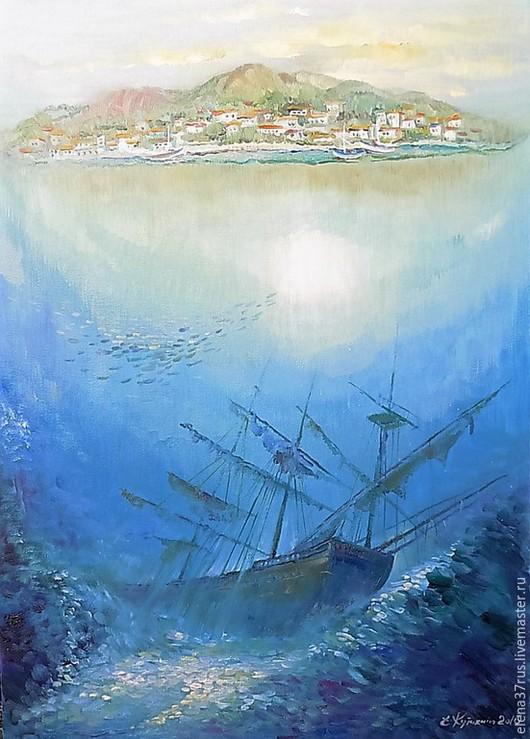 Пейзаж ручной работы. Ярмарка Мастеров - ручная работа. Купить Тайны моря. Handmade. Море, картина, картина для интерьера