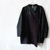 Одежда handmade. Livemaster - original item Kimono decorated with felted felt, Kimono Jacket, Asymmetric Kimono Ca. Handmade.