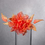 """Цветы ручной работы. Ярмарка Мастеров - ручная работа Роза из шёлка """"Гелия"""". Handmade."""