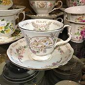 Винтаж handmade. Livemaster - original item Royal Albert tea pair, Zodiac series, Fish 1987-1991 (3735). Handmade.