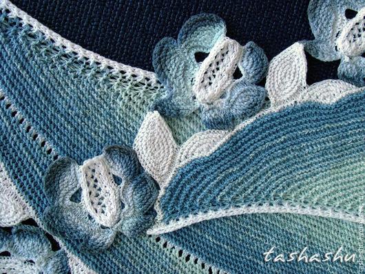 """Шали, палантины ручной работы. Ярмарка Мастеров - ручная работа. Купить Шаль """"Мейссен"""". Handmade. Голубой"""