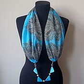 Украшения handmade. Livemaster - original item Scarf-necklace 466 chiffon. Handmade.