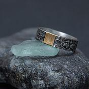 Украшения handmade. Livemaster - original item Silver men`s ring with brass band.. Handmade.