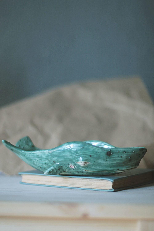 Кит керамический (пиала тарелка салатник для хранения), Горшочки, Кемерово,  Фото №1