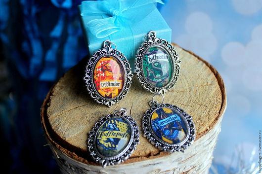 """Кулоны, подвески ручной работы. Ярмарка Мастеров - ручная работа. Купить Кулон факультета """"Гарри Поттер"""" Хогвартс гриффиндор слизерин. Handmade."""
