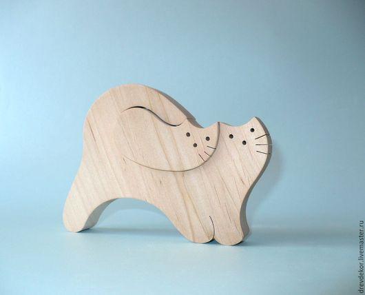 Развивающие игрушки ручной работы. Ярмарка Мастеров - ручная работа. Купить пазл кошка 2. Handmade. Комбинированный, сувениры из дерева