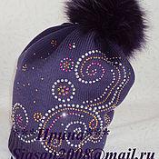 Аксессуары ручной работы. Ярмарка Мастеров - ручная работа Мериносовая шапочка с завитками. Handmade.