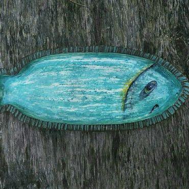 Посуда ручной работы. Ярмарка Мастеров - ручная работа Рыба керамическая. Handmade.
