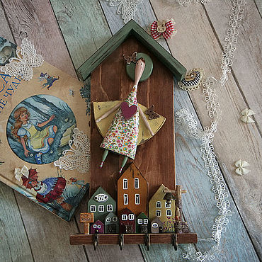 For home and interior handmade. Livemaster - original item The housekeeper Fly summer. The housekeeper decoupage. Handmade.