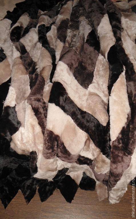 Текстиль, ковры ручной работы. Ярмарка Мастеров - ручная работа. Купить Покрывало (плед) из натурального меха. Handmade. Плед, мех