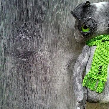 Куклы и игрушки ручной работы. Ярмарка Мастеров - ручная работа Чердачный кот. Злюка. Handmade.