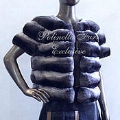 Одежда ручной работы. Ярмарка Мастеров - ручная работа Жакет из шиншиллы. Handmade.