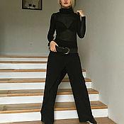 Одежда ручной работы. Ярмарка Мастеров - ручная работа Брюки с запахом BLACK. Handmade.
