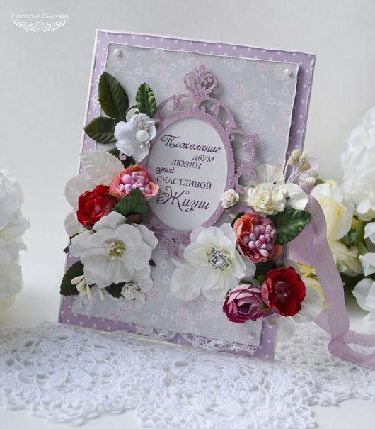 Открытки на все случаи жизни ручной работы. Ярмарка Мастеров - ручная работа. Купить открытка свадебная «Цветущий сад». Handmade.