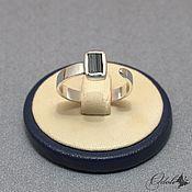 Украшения handmade. Livemaster - original item Ring: Silver dimensionless ring with a sherl. Handmade.