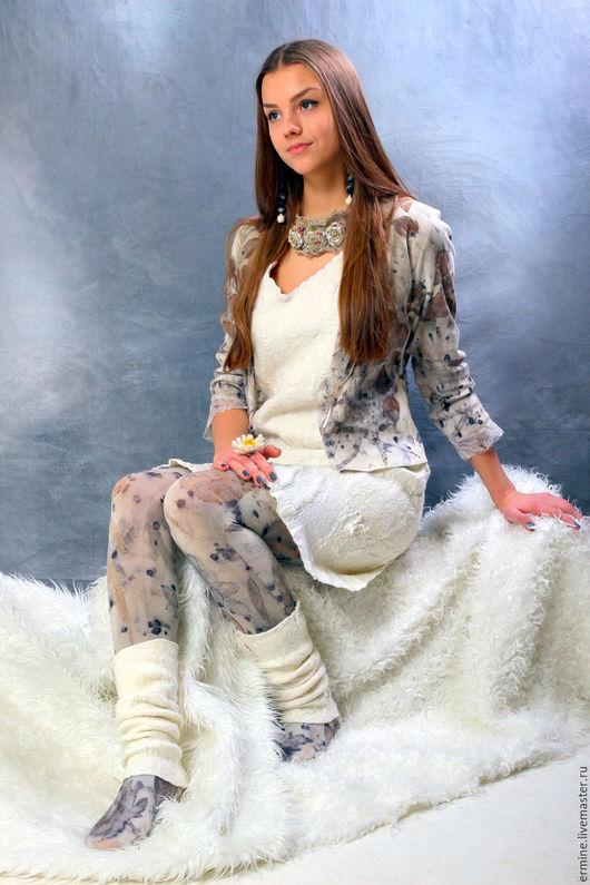 """Платья ручной работы. Ярмарка Мастеров - ручная работа. Купить Платье (без рукавов)""""Сливки"""". Handmade. Белый, сарафан для девочки, шёлк"""