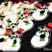 """Материалы для творчества ручной работы. Ярмарка Мастеров - ручная работа Новогодний зажим для пакета """"Снеговик"""". Handmade."""