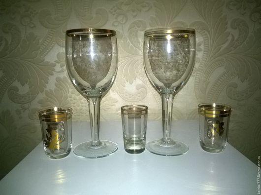 Винтажная посуда. Ярмарка Мастеров - ручная работа. Купить Советские бокалы, рюмки и стаканы. Handmade. Белый, стаканы