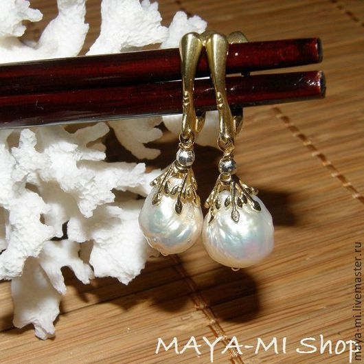 """Серьги ручной работы. Ярмарка Мастеров - ручная работа. Купить Серьги """"Kasumi White Beauty-3"""". Handmade. Белый"""