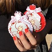 Аксессуары ручной работы. Ярмарка Мастеров - ручная работа Обезьянки-символ года елочные шары. Handmade.