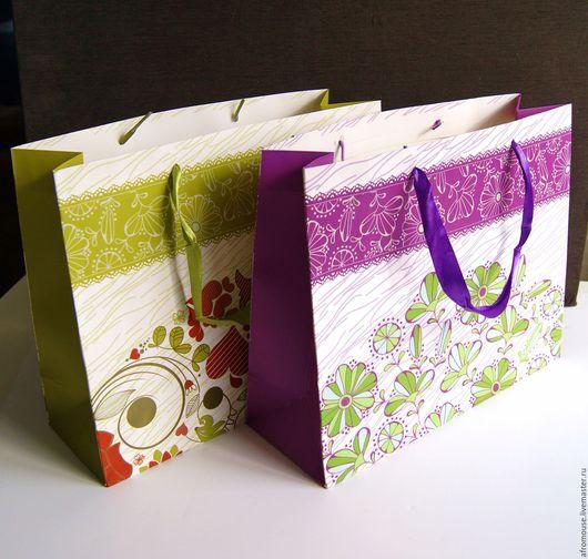 пакет `Ажур и цветы` 26х32х11 см горизонтальный