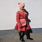 Работы для детей, ручной работы. Ярмарка Мастеров - ручная работа Стеганое пальто для девочки. Handmade.