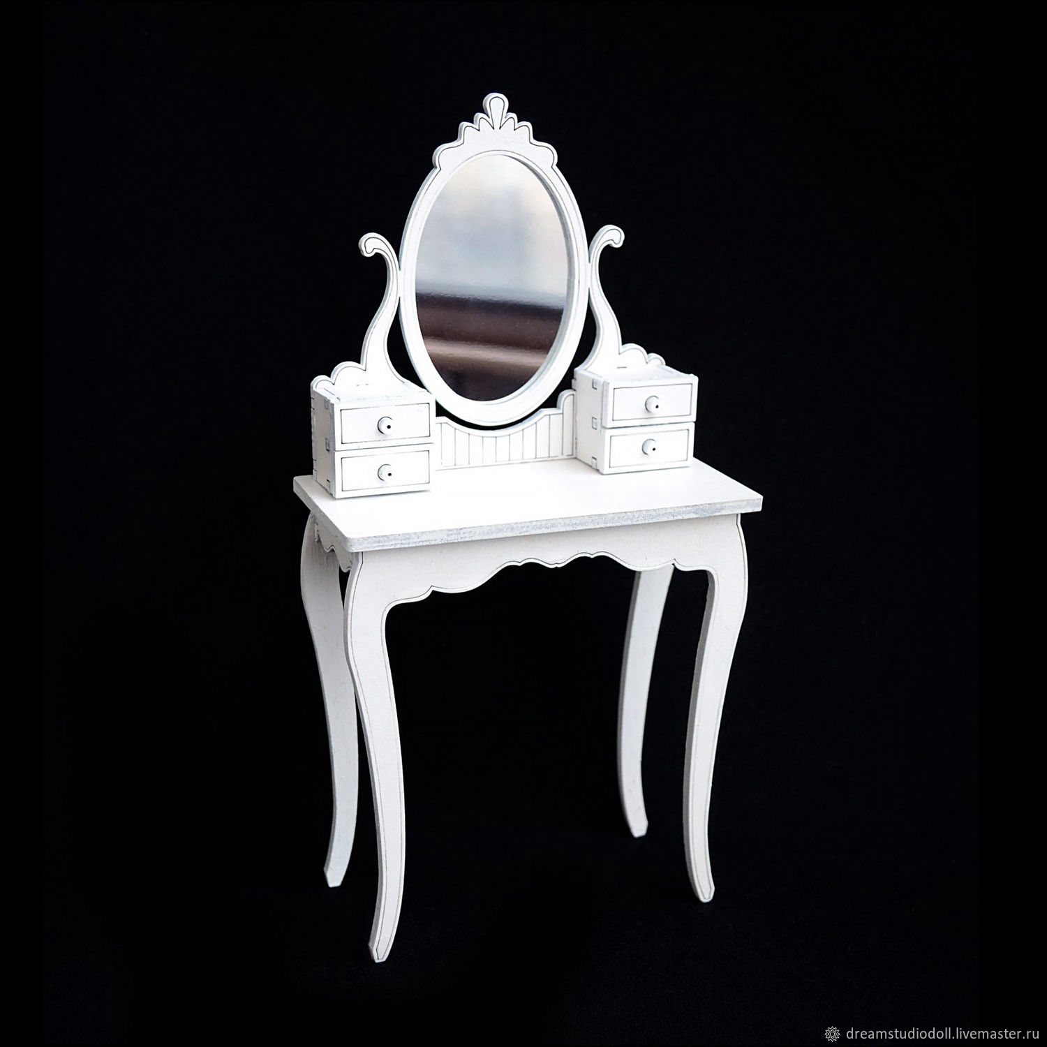 Dressing table with mirror for dolls 1:6 (YoSD), Doll furniture, St. Petersburg,  Фото №1