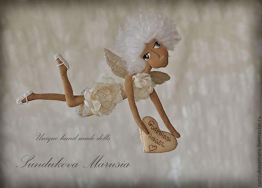 """Ароматизированные куклы ручной работы. Ярмарка Мастеров - ручная работа. Купить """"Ангел хранитель"""" - авторская кофейная куколка. Handmade. светлый"""