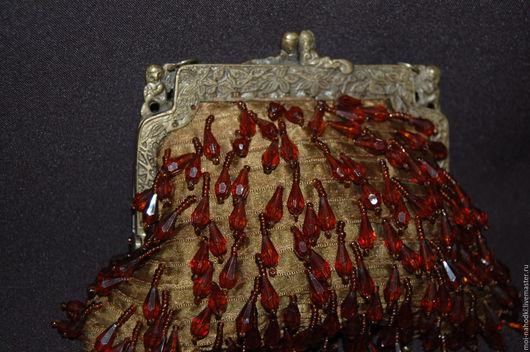 Винтажная одежда и аксессуары. Ярмарка Мастеров - ручная работа. Купить Старинная дамская сумочка. Handmade. Коричневый, маленькая сумочка