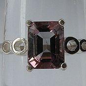 Редкий двухцветный турмалин 2.04 карата & кольцо серебро 925 пробы