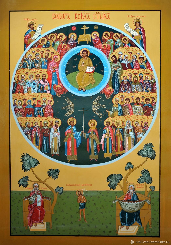 """Икона """"Собор всех святых"""", Иконы, Челябинск, Фото №1"""