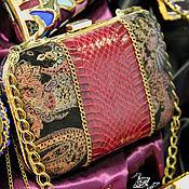 """Сумки и аксессуары ручной работы. Ярмарка Мастеров - ручная работа Клатч кожаный """"Red elegance"""". Handmade."""