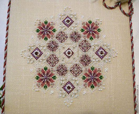 """Абстракция ручной работы. Ярмарка Мастеров - ручная работа. Купить Вышивка крестом """"Amethyst Snowflake"""". Handmade. Вышивка крестиком, орнамент"""