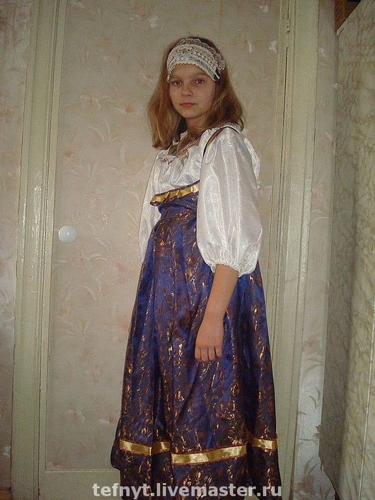 Детские карнавальные костюмы ручной работы. Ярмарка Мастеров - ручная работа. Купить костюм девичий 19 век. Handmade.