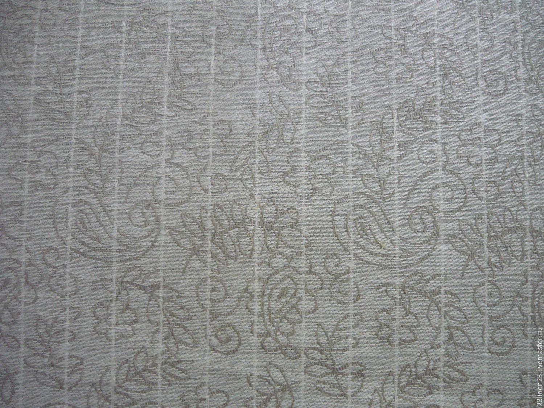 Ткань лен Серые узоры, Ткани, Ярославль,  Фото №1