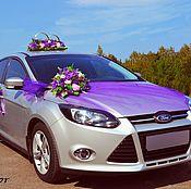 Свадебный салон ручной работы. Ярмарка Мастеров - ручная работа свадебное украшение на авто №10. Handmade.